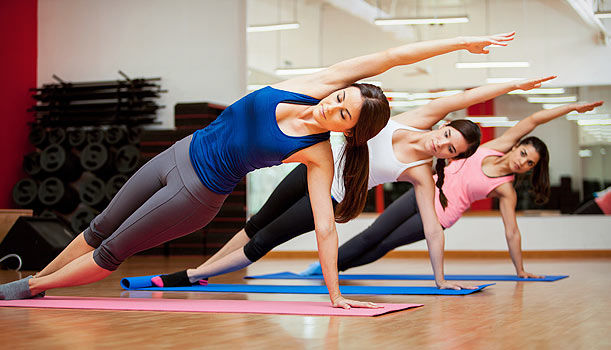 Yoga Pose Women Core Strength