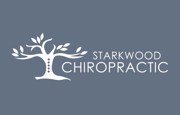 Starkwood Chiropractic Portland, Oregon Logo Blue Flat