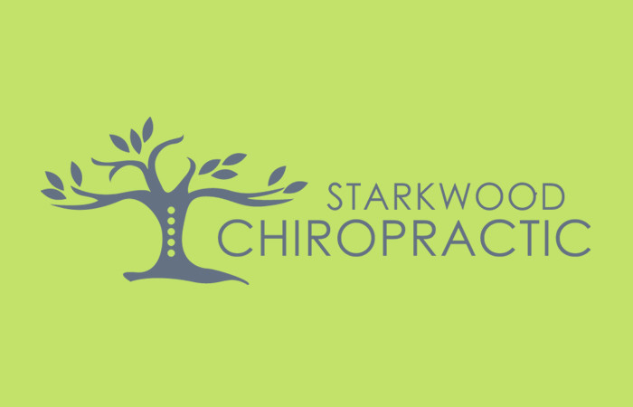 Starkwood Chiropractic Portland, Oregon Logo Green Flat