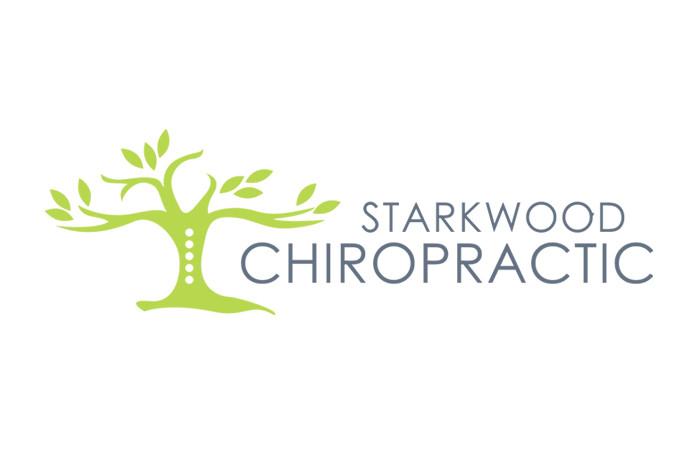 Starkwood Chiropractic Portland, Oregon Logo White Flat
