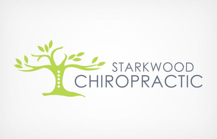 Starkwood Chiropractic Portland, Oregon Logo White Soft