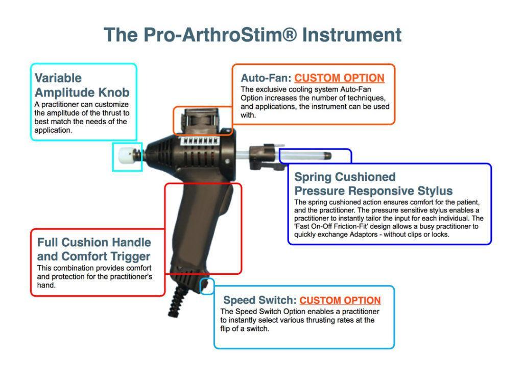 arthrostim pro chiropractic adjustment instrument